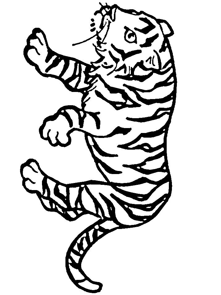 Disegno 10 di tigri da stampare e colorare