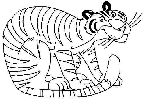 Coloriage 14 des Tigres à imprimer et colorier
