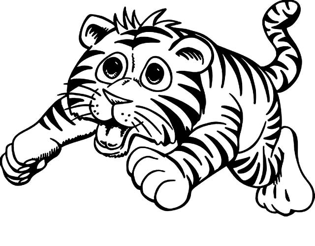 Coloriage 15 des Tigres à imprimer et colorier