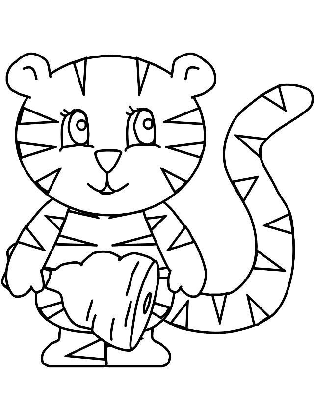 Disegno 17 di tigri da stampare e colorare