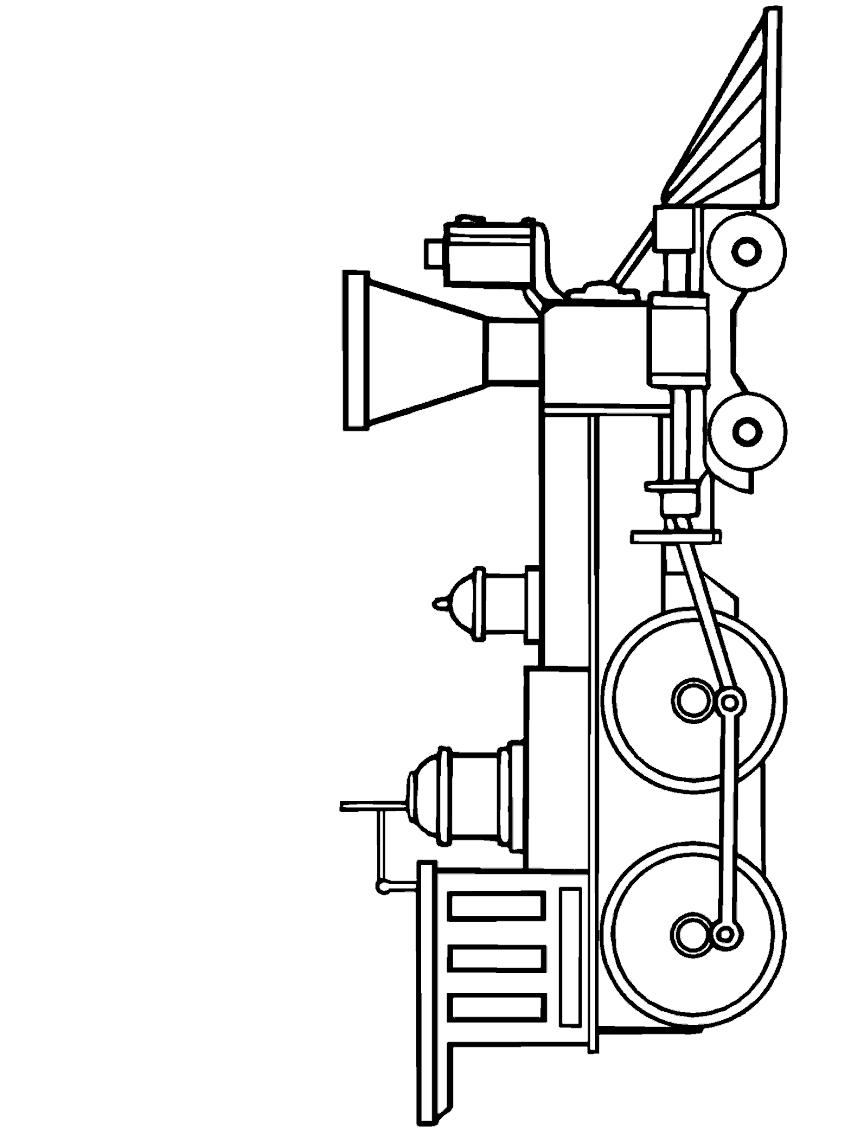 Dibujo 1 de trenes para imprimir y colorear