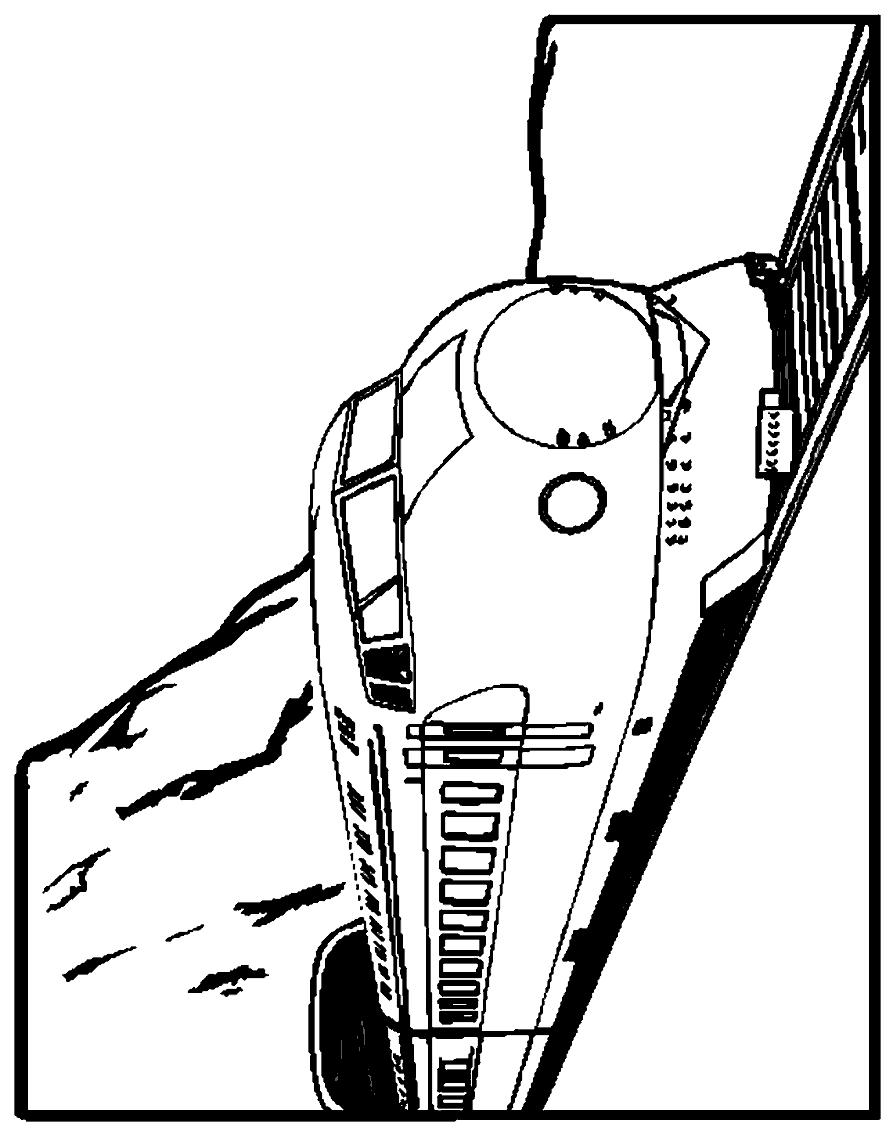 Dibujo 2 de trenes para imprimir y colorear