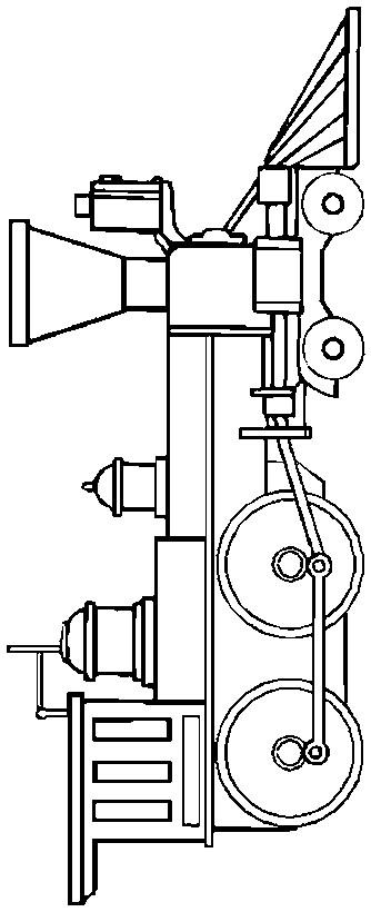 Dibujo 3 de trenes para imprimir y colorear