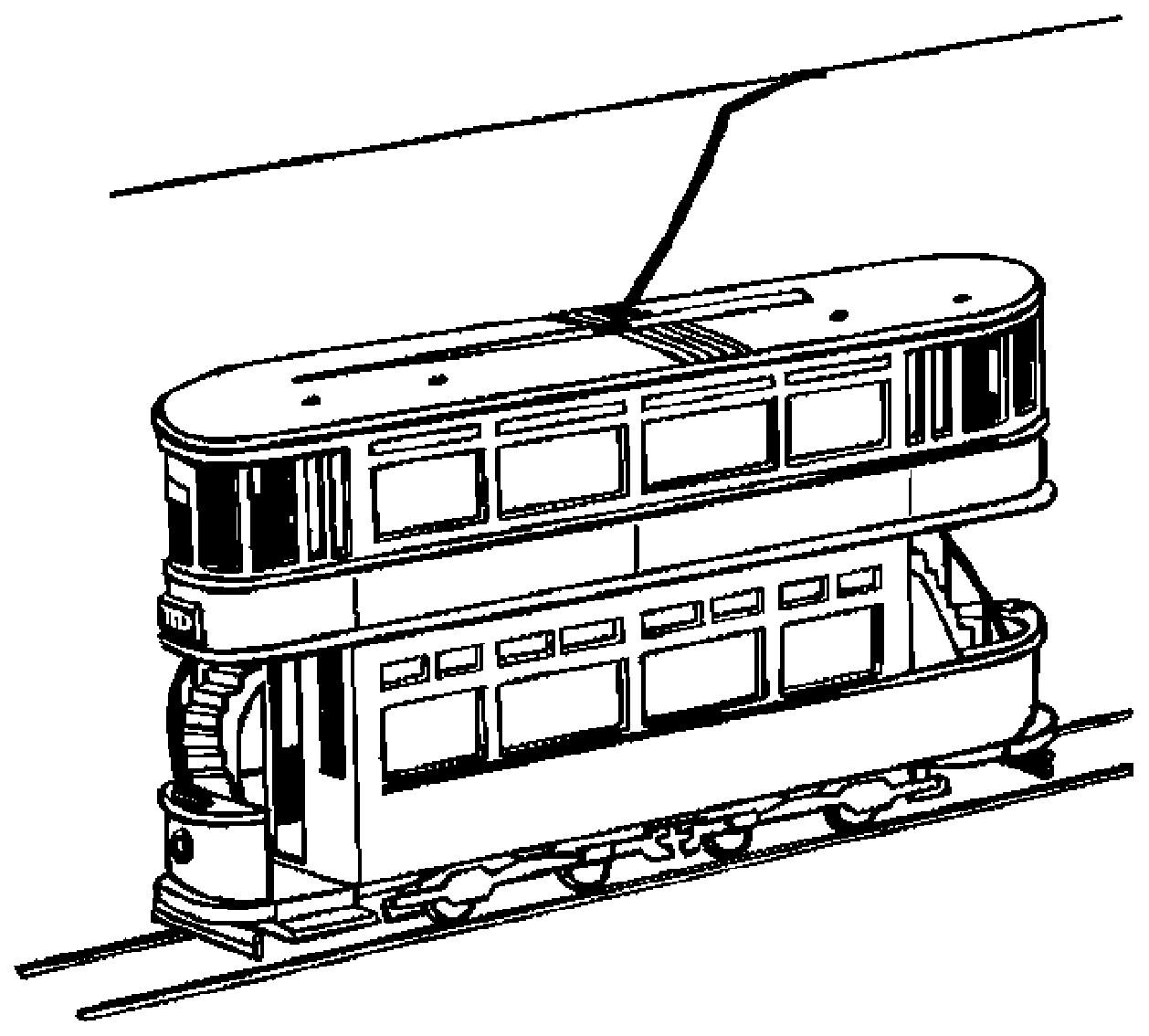 Dibujo 6 de trenes para imprimir y colorear