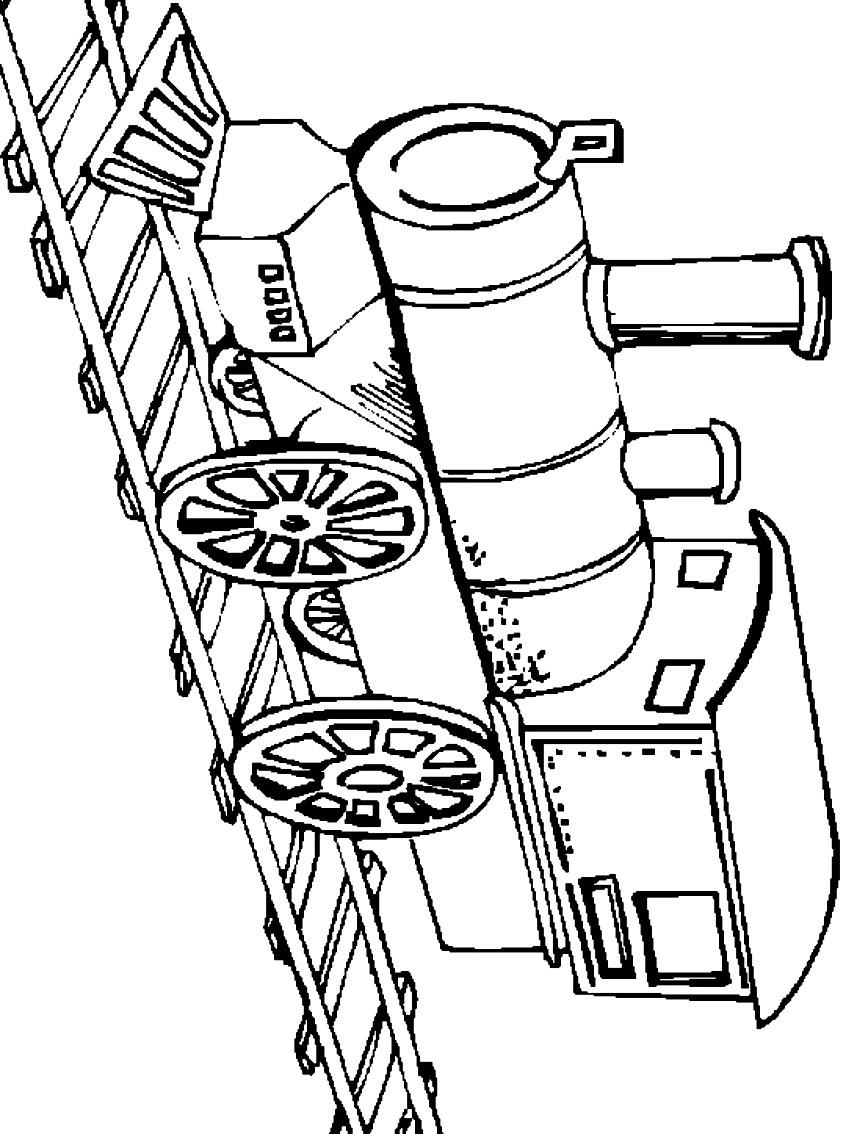 Dibujo 8 de trenes para imprimir y colorear