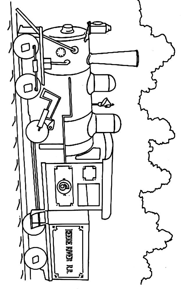 Dibujo 10 de trenes para imprimir y colorear