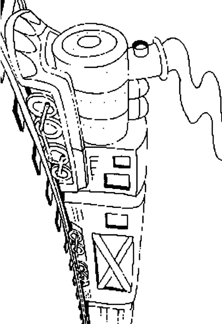 Dibujo 16 de trenes para imprimir y colorear