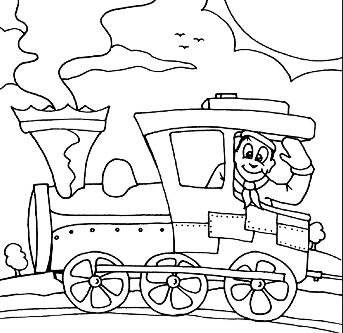 Dibujo 17 de trenes para imprimir y colorear