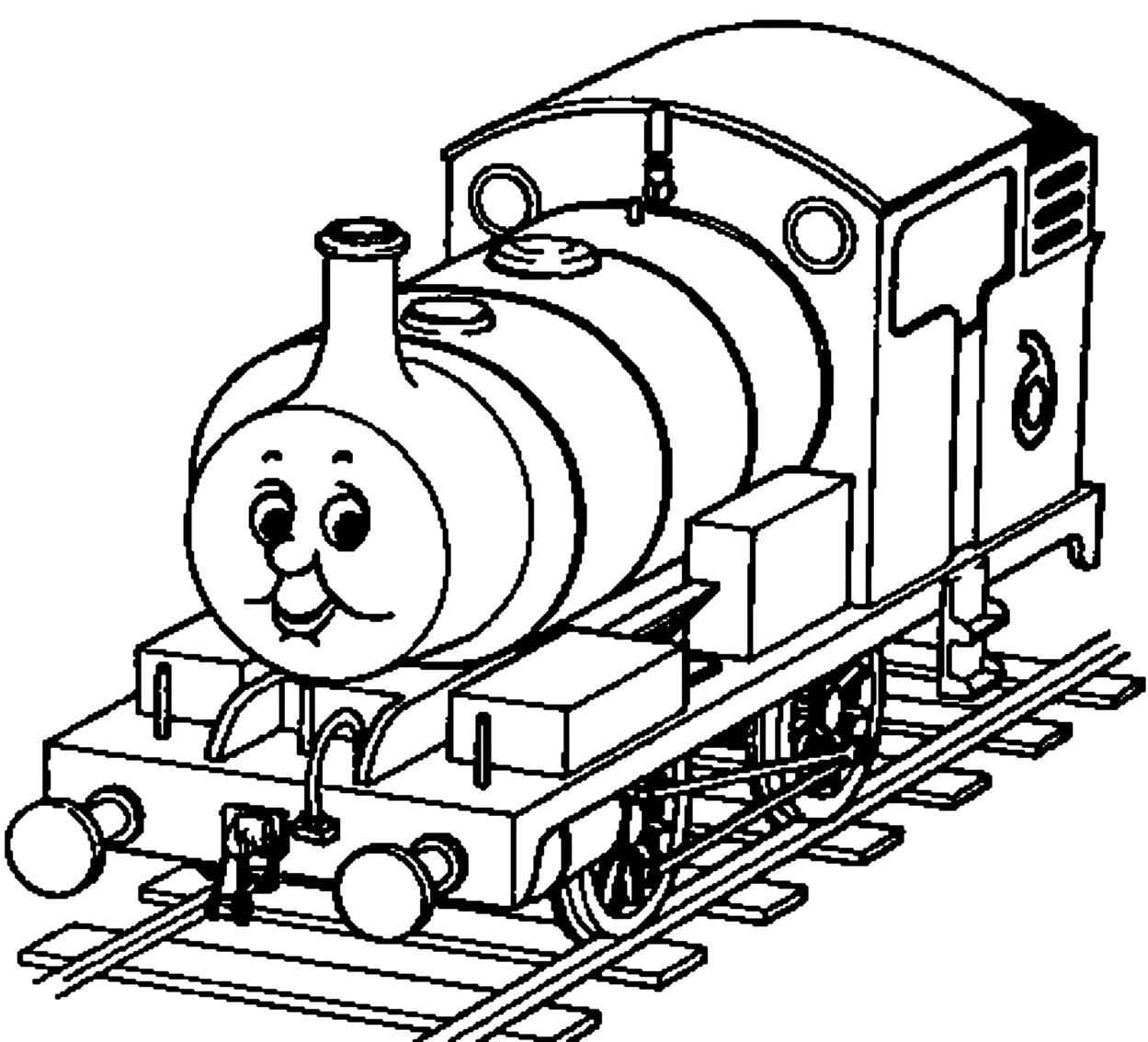 Dibujo 18 de trenes para imprimir y colorear