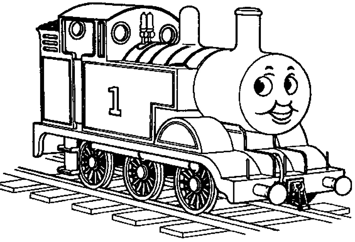 Dibujo 20 de trenes para imprimir y colorear
