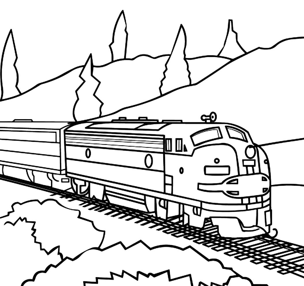 Dibujo 21 de trenes para imprimir y colorear