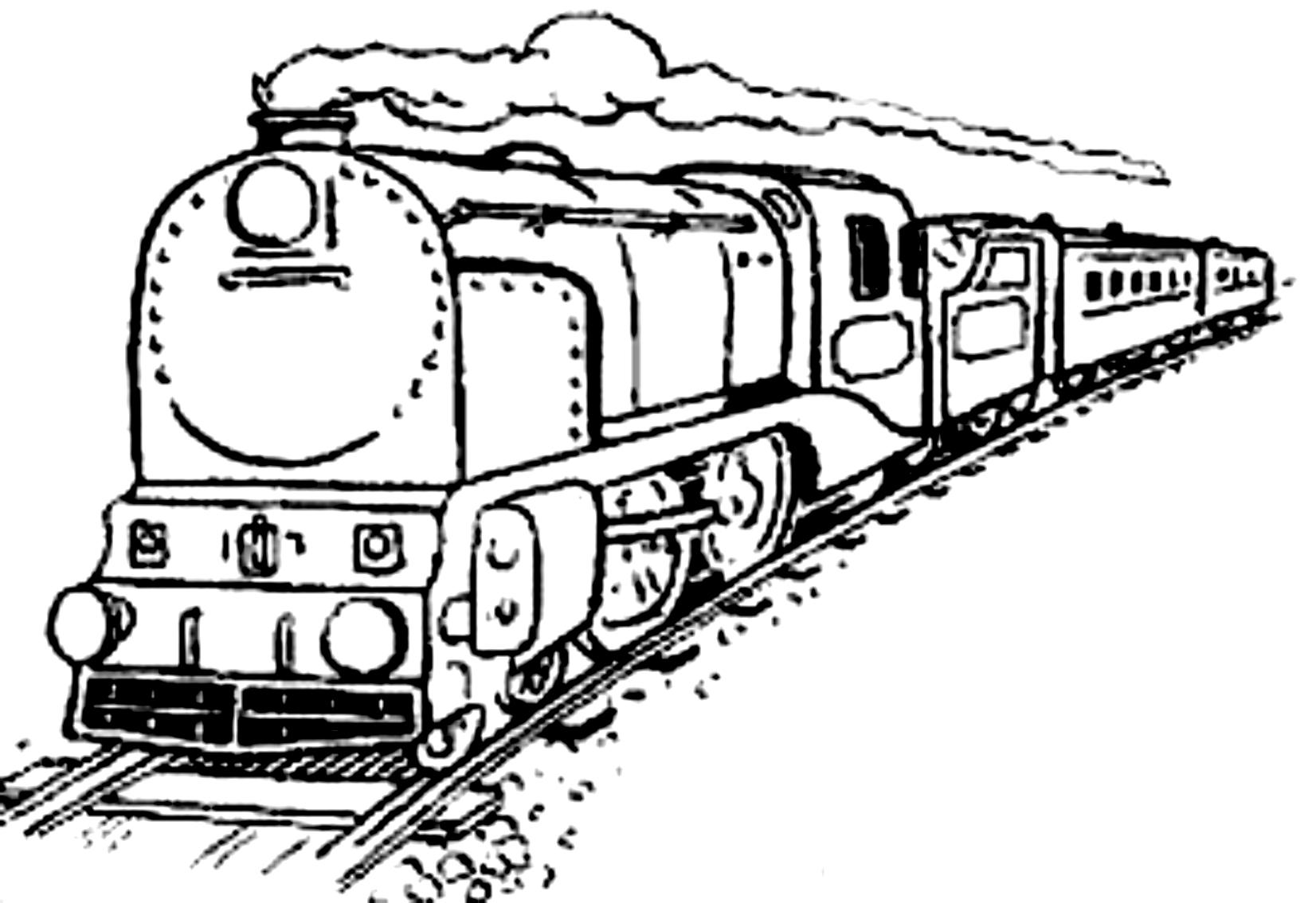 Dibujo 22 de trenes para imprimir y colorear