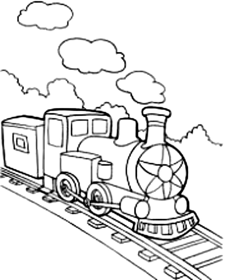 Dibujo 23 de trenes para imprimir y colorear