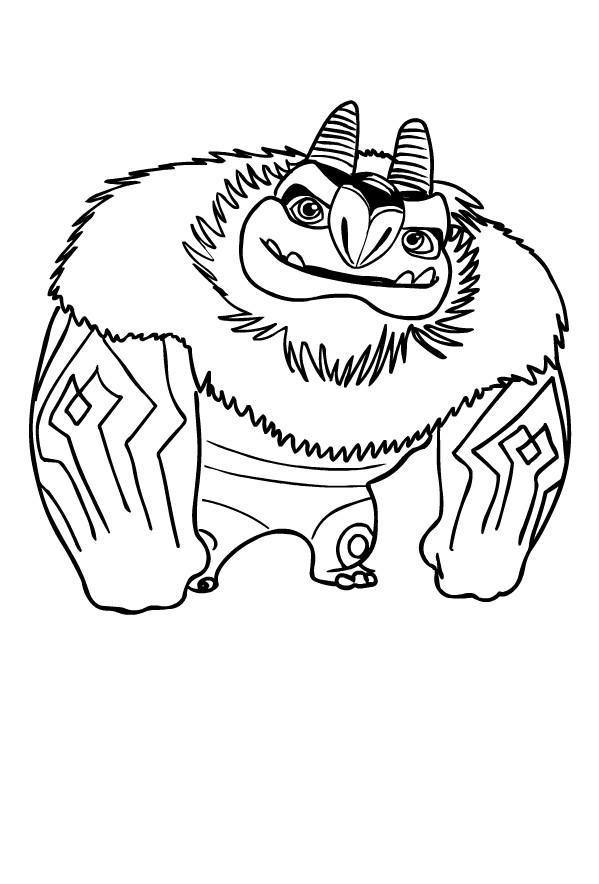 Coloriage de Aarghaumont de Trollhunters pour imprimer et colorier