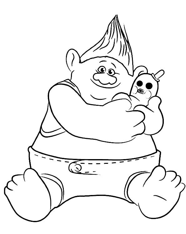Coloriage 2 de Trolls à imprimer et colorier