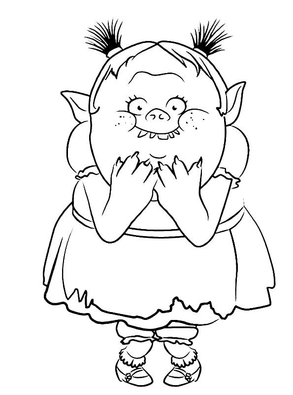 Coloriage 4 de Trolls à imprimer et colorier
