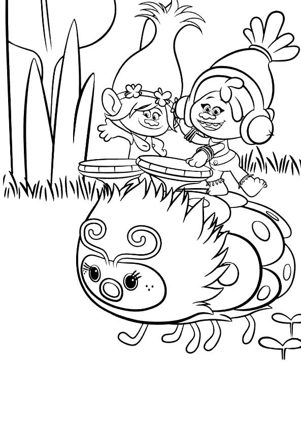 Coloriage 11 de Trolls à imprimer et colorier