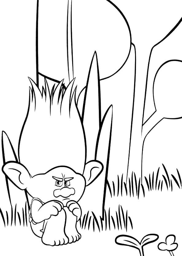 Coloriage 15 de Trolls à imprimer et colorier