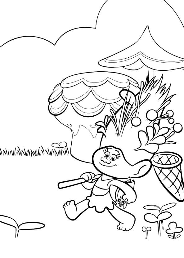 Coloriage 16 de Trolls à imprimer et colorier