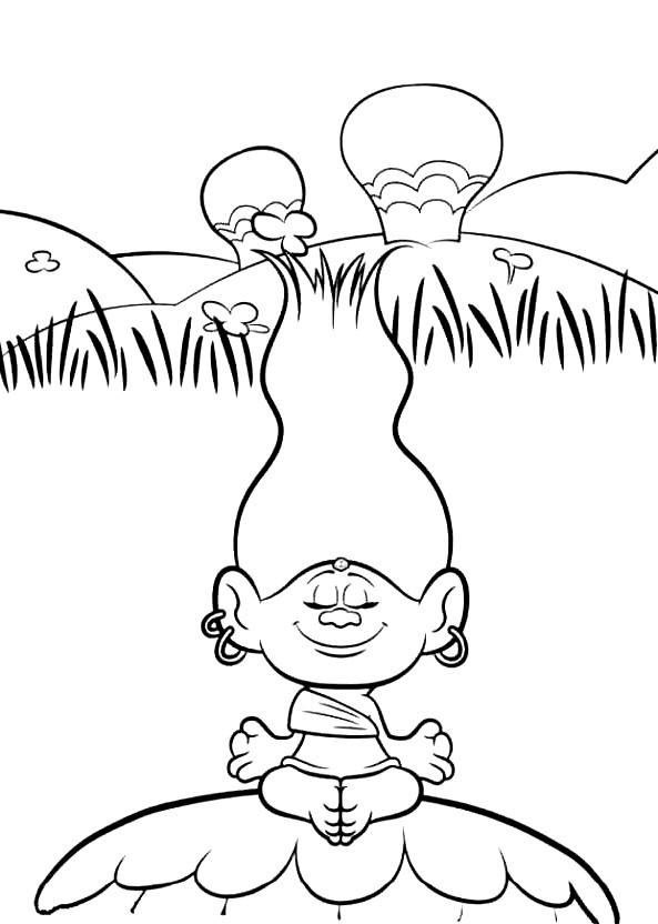 Coloriage 17 de Trolls à imprimer et colorier
