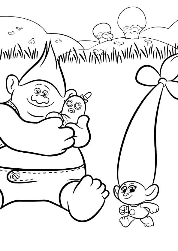 Coloriage 18 de Trolls à imprimer et colorier