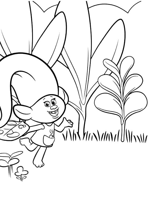 Coloriage 19 de Trolls à imprimer et colorier