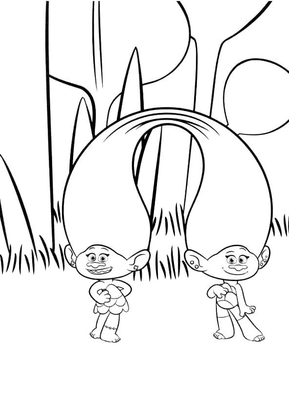 Coloriage 22 de Trolls à imprimer et colorier