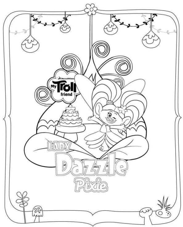 Coloriage 24 de Trolls à imprimer et colorier