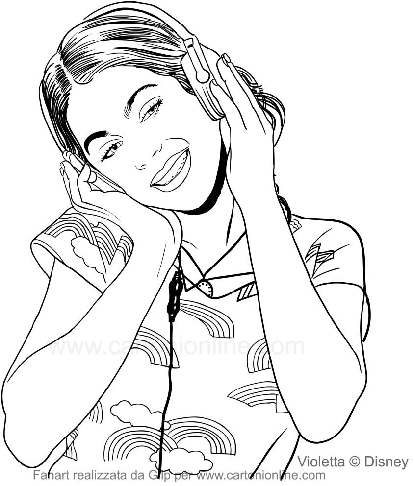 Disegno Di Violetta Che Ascolta Musica Con Le Cuffie Da