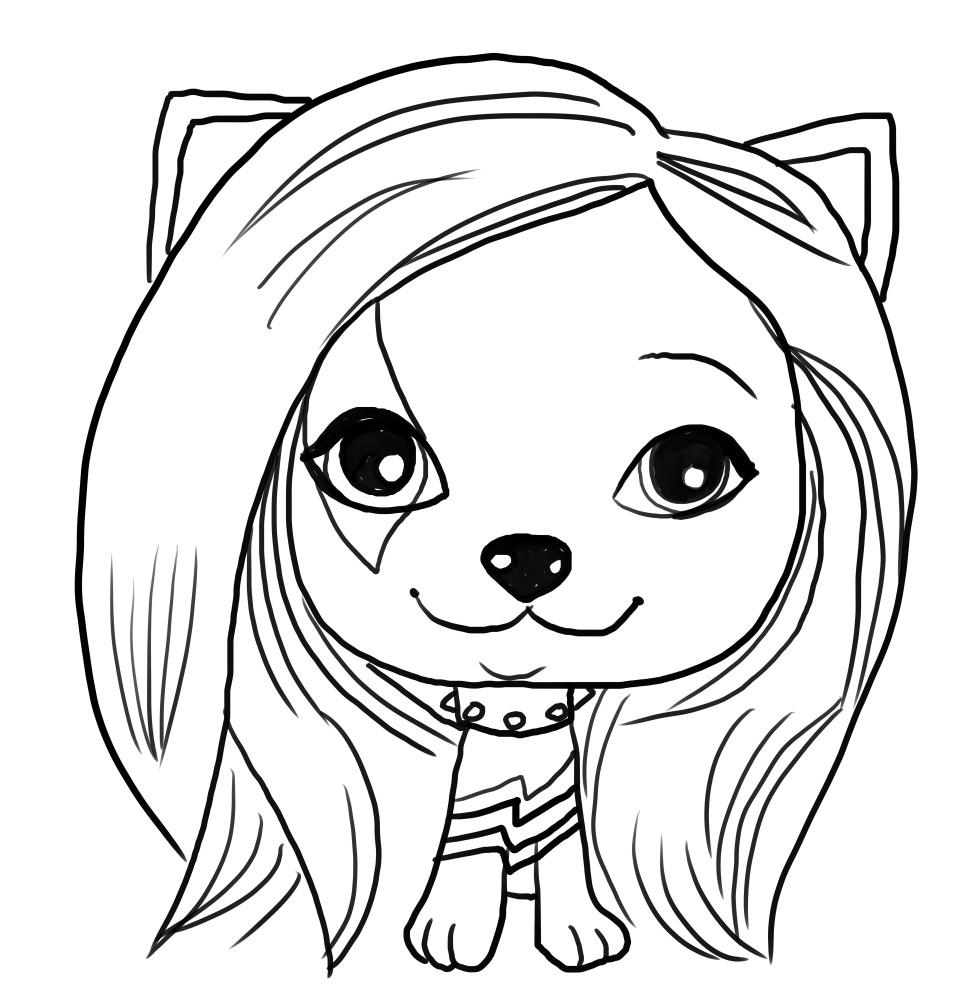 Dibujo de Gwen de Vip Pets voor elke kleur
