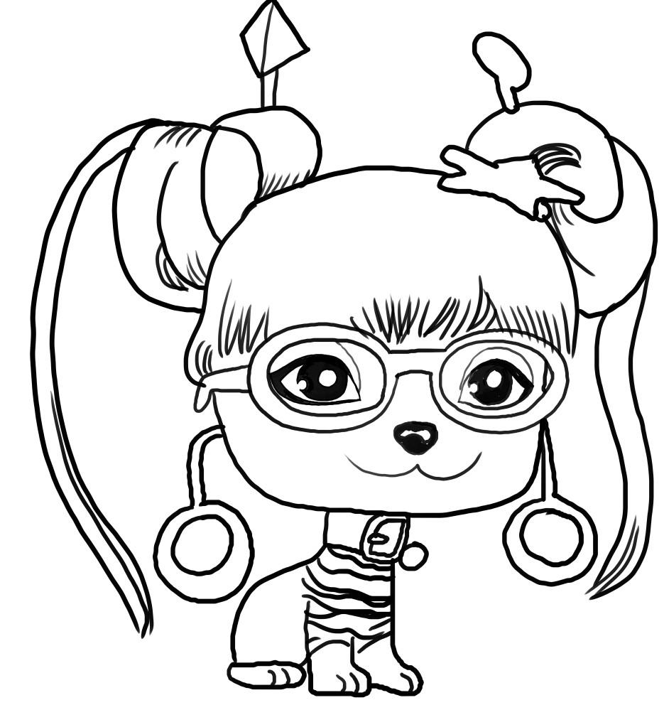 Dibujo de Lady Gigi de Vip Pets voor elke kleur