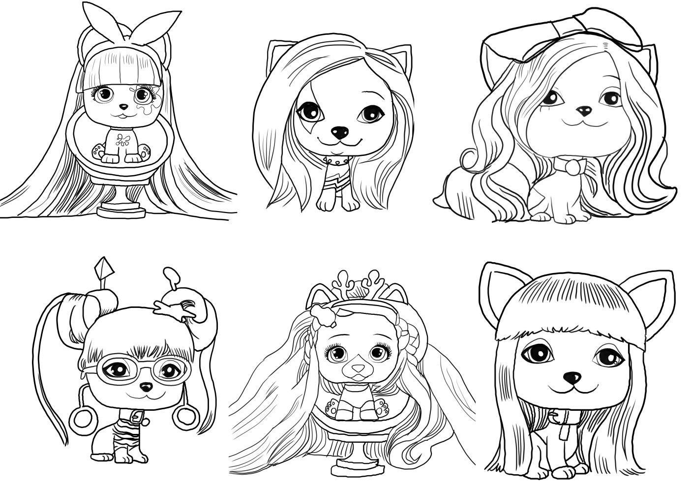 Coloriage de Vip Pets de Vip Pets is imprimer et colorier