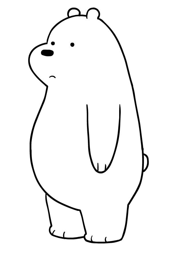 Disegno Di Orso Bianco Dei We Bare Bears Da Colorare