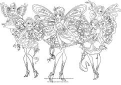 Disegni Delle Winx Club Butterflix Da Colorare