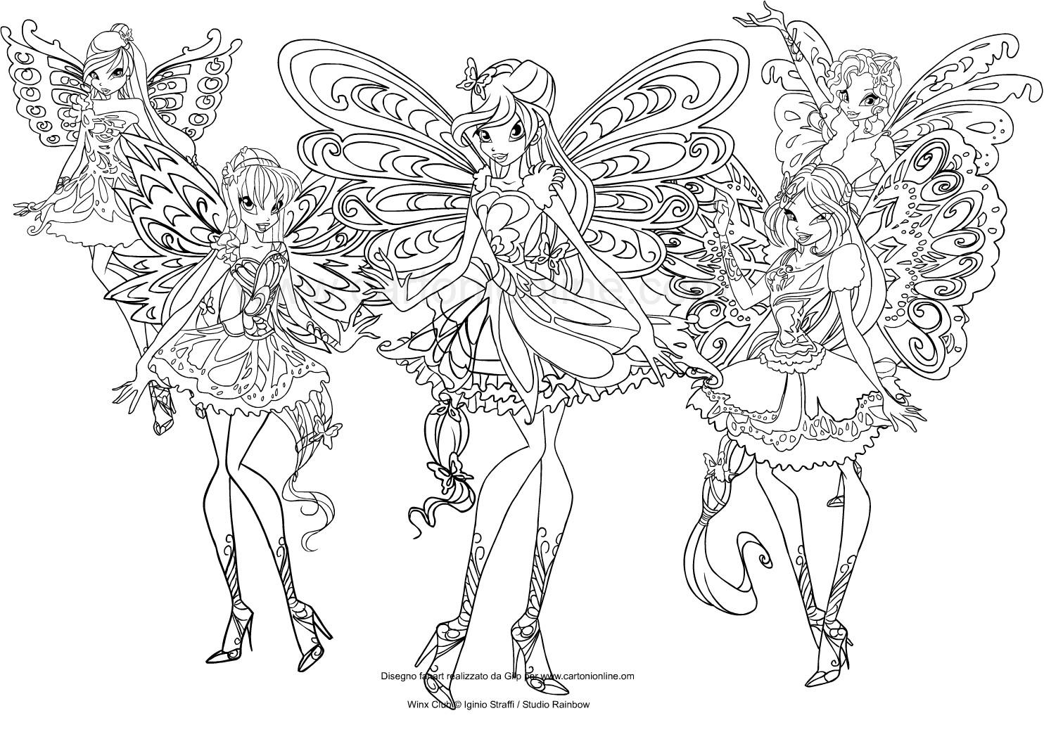 Dessin de Winx Club Butterflix à imprimer et colorier