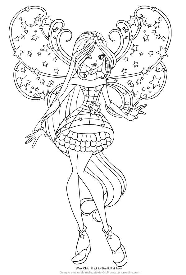 Disegno Di Flora Delle Winx Club Cosmix Da Colorare