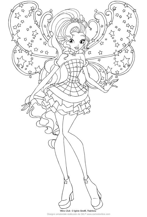Disegno Di Aisha Delle Winx Club Cosmix Da Colorare