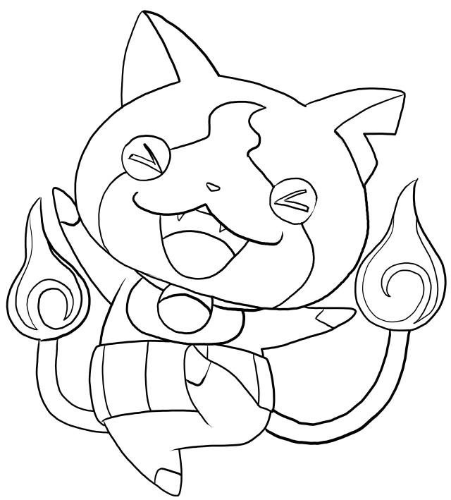 Jibanyan of Yo-Kai Katso väritys sivu tulostamista ja värittämistä varten