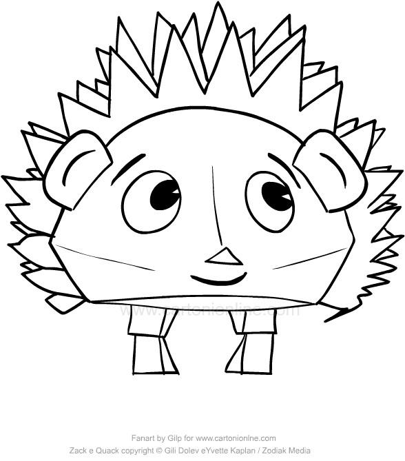 Disegno Di Fluffy Il Riccio Di Zack E Quack Da Colorare