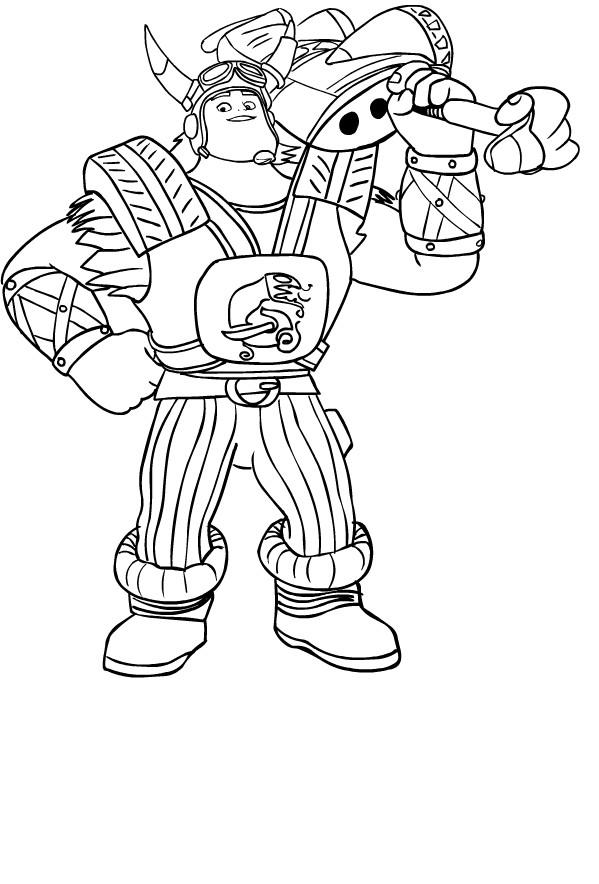 Coloriage de Crogar de Zak Storm à imprimer et colorier