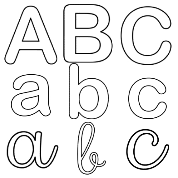 Coloriages de l'alphabet