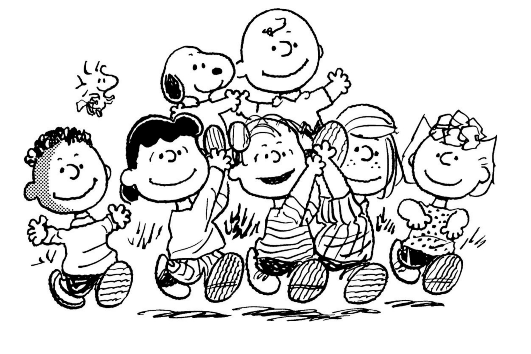 peanuts comics coloring pages - photo#29