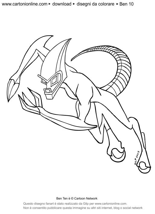Disegno di xlr8 for Immagini di ben ten da colorare