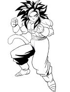 Disegni Da Colorare Di Dragon Ball Gt Goku 4 Livello.Disegni Di Dragon Ball Da Colorare