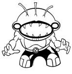 Dibujo del Spitter alienígena