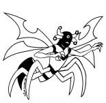 Tekening van de buitenaardse angel (Stinkfly) vergelijkbaar met een wesp