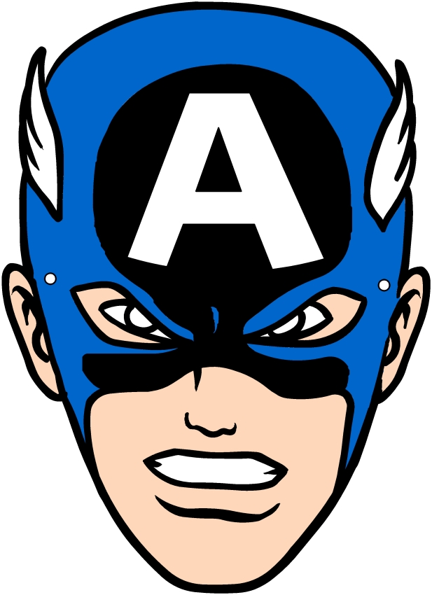 Captain America mask (Avengers) to be cut out