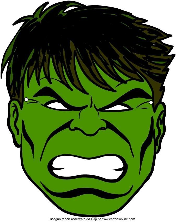 绿巨人(复仇者)面具切出
