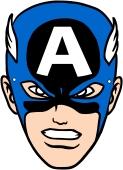 Masque Captain America à découper