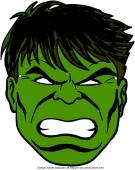 Masque Hulk à découper